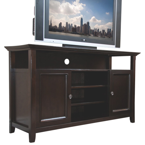 "Simpli Home Amherst 60"" TV Stand - Dark American Brown"