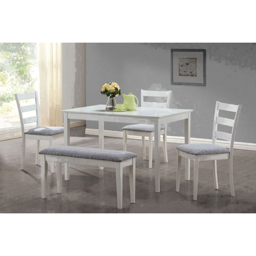 Transitional 5 Piece Dining Set White Dining Sets Best Buy Canada