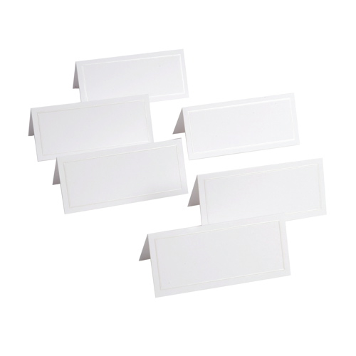 Gartner Studios 48-Pieces Placecards (83001) - White