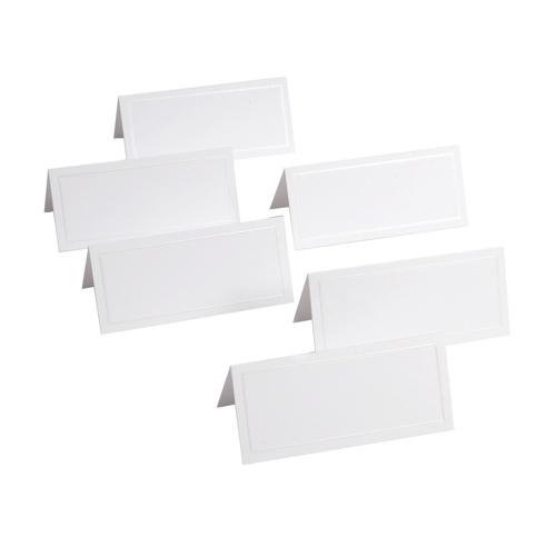 Ensemble de 48 marque-places de Gartner Studios (83001) - Blanc