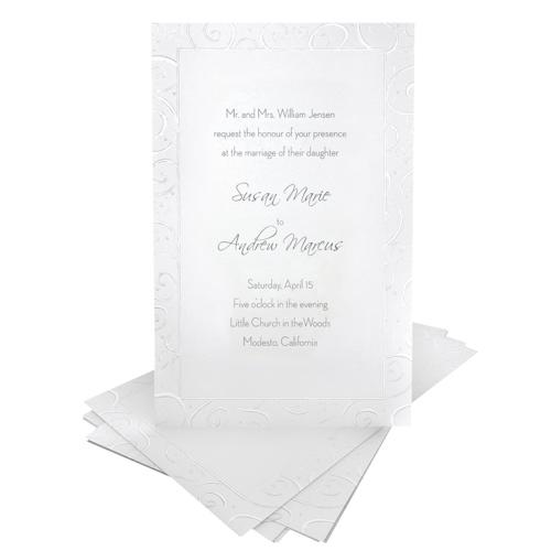 Ensemble de 50 cartes d'invitation de Gartner Studios (61042) - Blanc