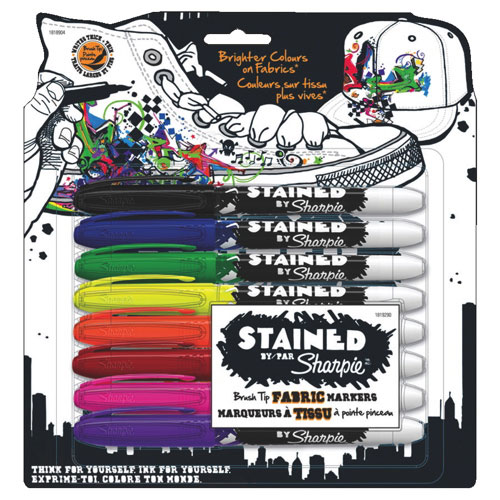Sharpie Stained Fabric Marker (1818904) - 8 Pack - Assorted
