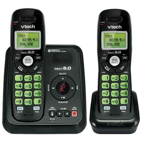 VTech 2-Handset DECT 6.0 Cordless Phone (CS6124-21)