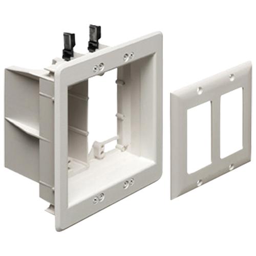 Coffret de branchement TV Box encastré non métal. pour alim./basse tension d'Arlington (TVBU505GC)