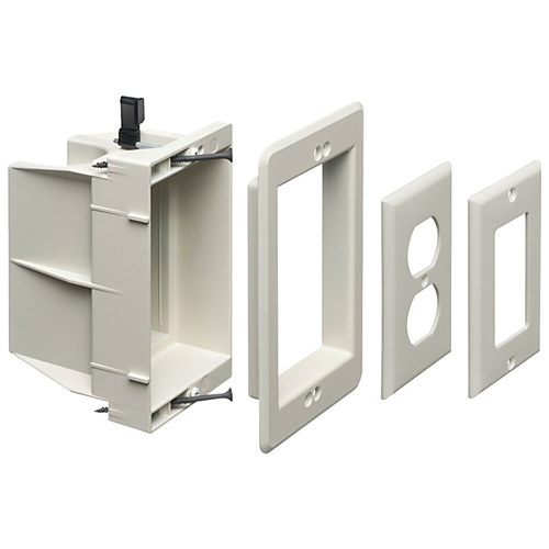 Arlington Non-Metallic Power/Low Voltage Recessed Box (DVFR1WGC)