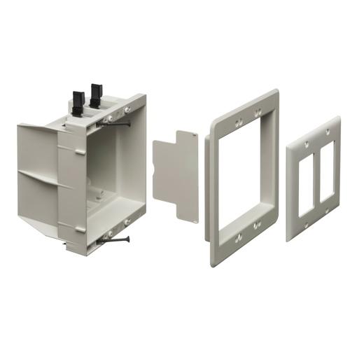 Coffret de branchement encastré non métal. pour alimentation/basse tension d'Arlington (DVFR2WGC)