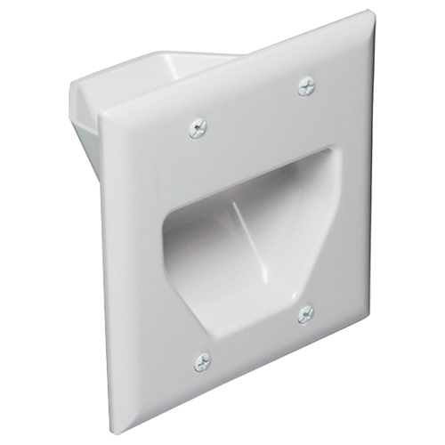 Data Comm Scoop Non-Metallic Cable Entrance Hood (45-0002-WH)