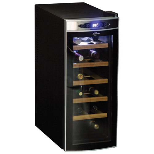 Koolatron 12-Bottle Deluxe Wine Cellar (WC12-35D) - Black