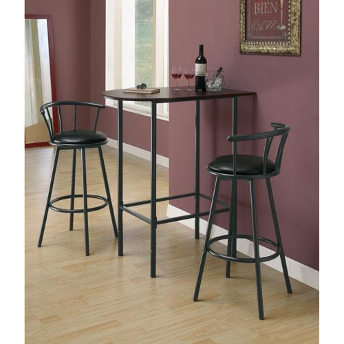 Table de bar de style contemporain cappuccino noir for Table de bar noir