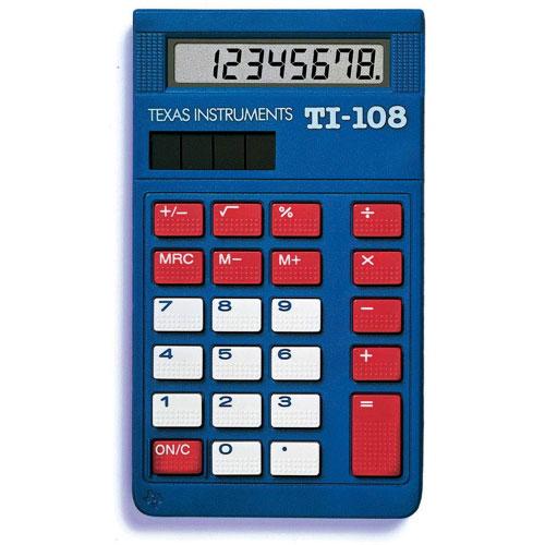 Calculatrice pour école primaire de Texas Instruments (108TKT) - Paquet de 10