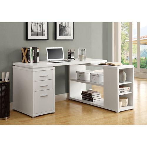 Hollow Core Corner Computer Desk White Desks