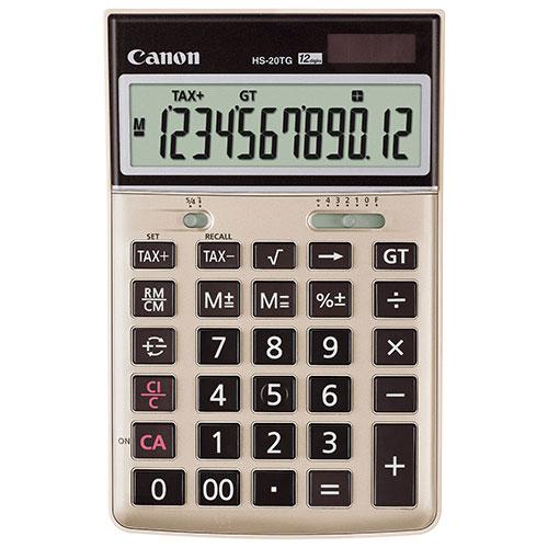 Calculatrice portable écologique à 12 chiffres de Canon (HS-20TG)