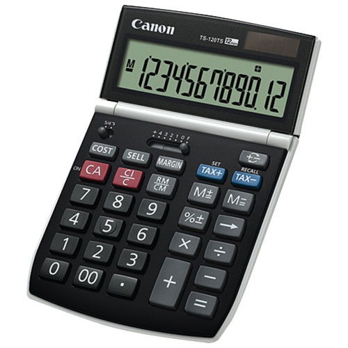 Canon 12-Digit Dual Power Calculator (TS-120T)