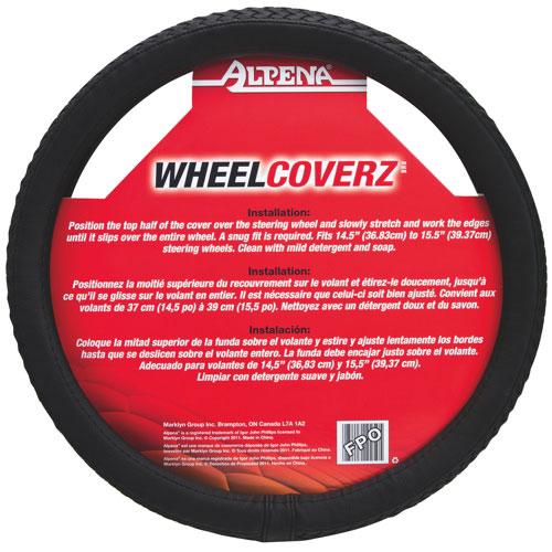 Alpena Steering Wheel Cover (10250) - Black