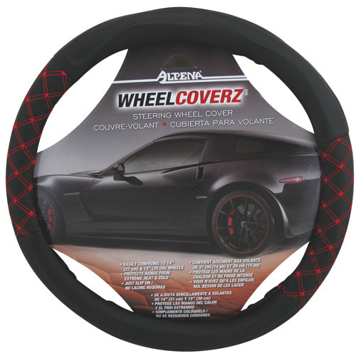 Alpena Steering Wheel Cover (10311) - Red