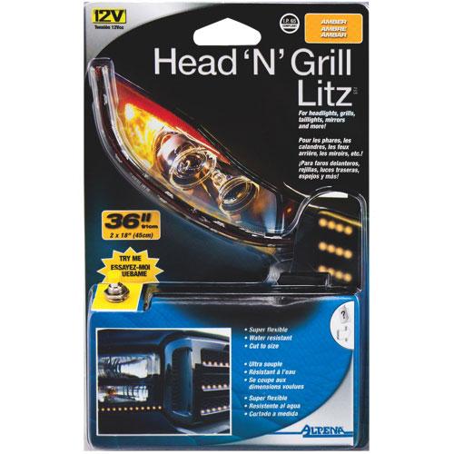 Alpena Head'N Grill Litz LED Strip Lights (77512) - Amber