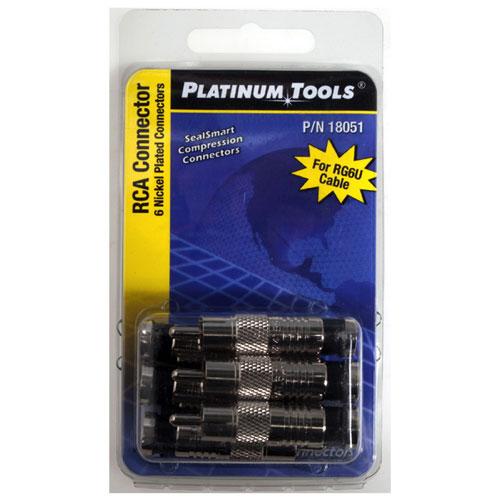 Platinum Tools Compression RCA Connectors (18051C)