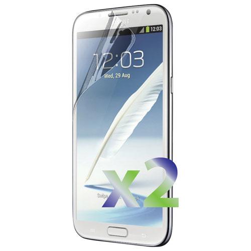 Protecteur d'écran d'Exian pour Galaxy Note 2 de Samsung (SP-Note 2) - Paquet de 2