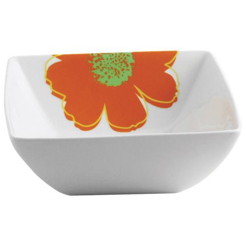 Brilliant Sunshine Salad Bowl - White/Orange/Yellow