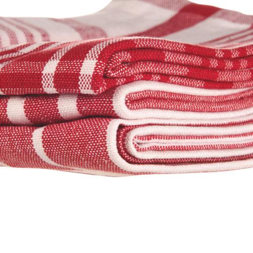Grandes serviettes de nettoyage de Now Designs (2016212) - Rouge - Paquet de 3