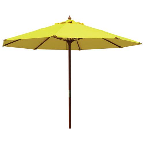 Parasol de patio en bois de 9,8 pi de The Bear Chair Company - Jaune