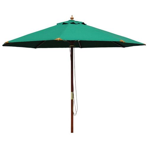 Parasol de patio en bois de 9,8 pi de The Bear Chair Company - Vert forêt