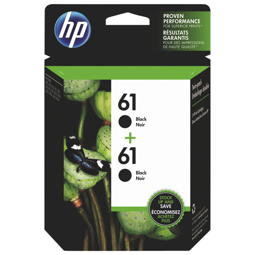 HP 61 Black Ink (CZ073FC) - 2 Pack