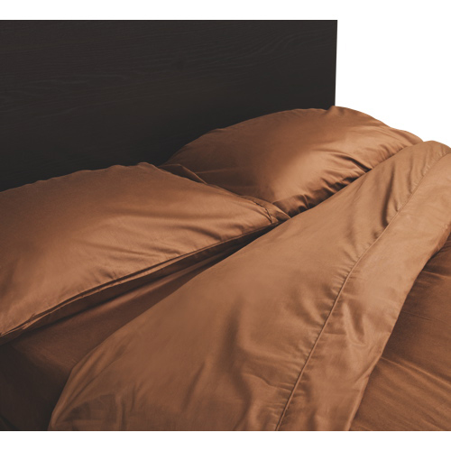 Maholi Maxwell Collection 230 Thread Count Egyptian Cotton Duvet Cover Set - Queen - Chocolate