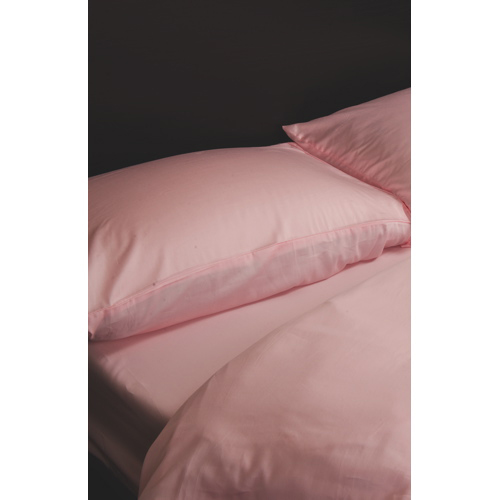 Maholi Maxwell Collection 230 Thread Count Egyptian Cotton Duvet Cover Set - Single/Twin - Pink