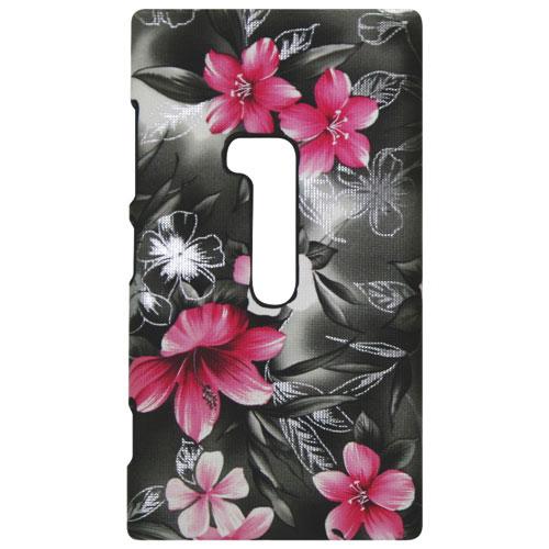 Exian Nokia Lumia 920 Cell Phone Case (920LUM004) - Black/Pink