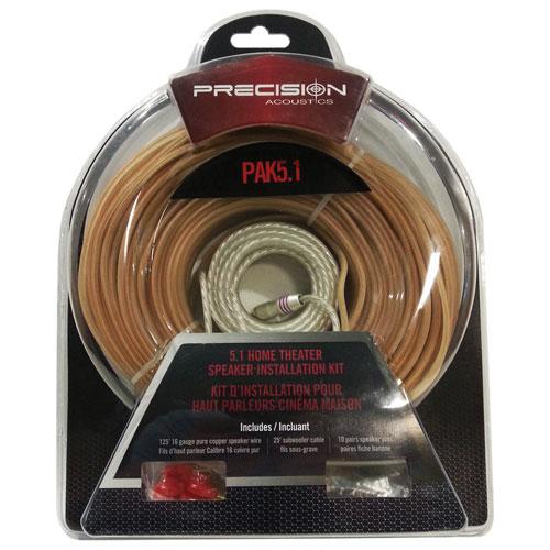 Trousse de câblage pour haut-parleurs de Precision Acoustics (PAK5)