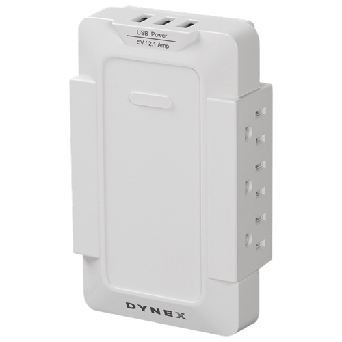 Dynex 6-Outlet 3-USB Power Hub (DX-SF129)