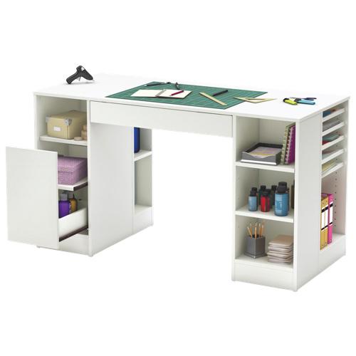 Crea contemporary writing desk pure white desks - Bureau de travail blanc ...