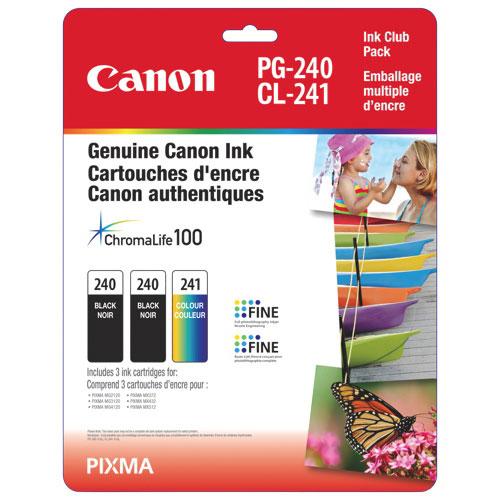 Cartouches d'encre noire/couleur PG-240/CL-241 Pixma de Canon (5207B005) - Paquet de 3
