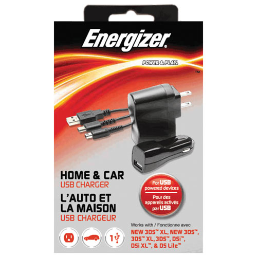 Energizer Universal Home & Car Charger for Nintendo DS