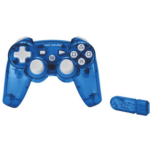 Manette sans fil Rock Candy de PDP pour PS3 - Bleu