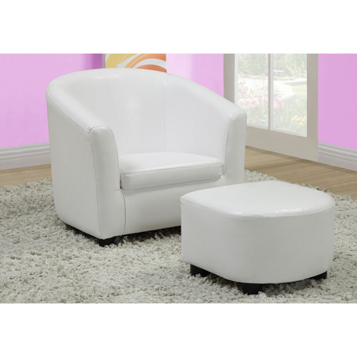 Fauteuil et pouf contemporains en similicuir de monarch for Pouf contemporain