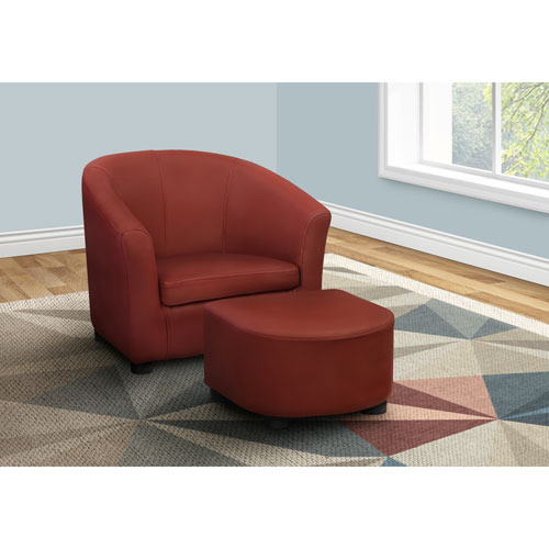ensemble fauteuil et pouf contemporain pour enfants rouge chaises pour enfants et. Black Bedroom Furniture Sets. Home Design Ideas