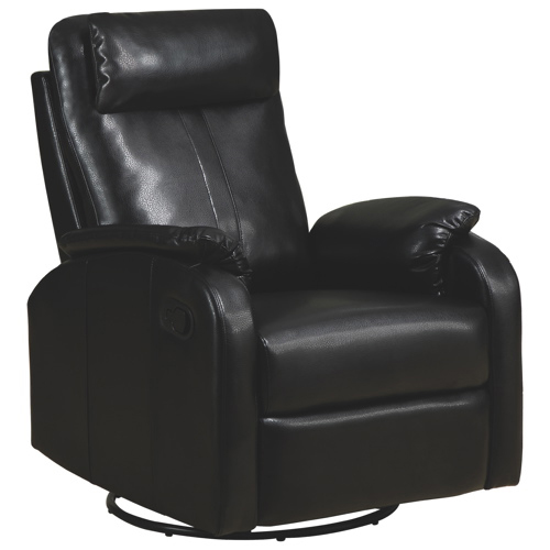fauteuil inclinable contemporain pivotant en cuir. Black Bedroom Furniture Sets. Home Design Ideas