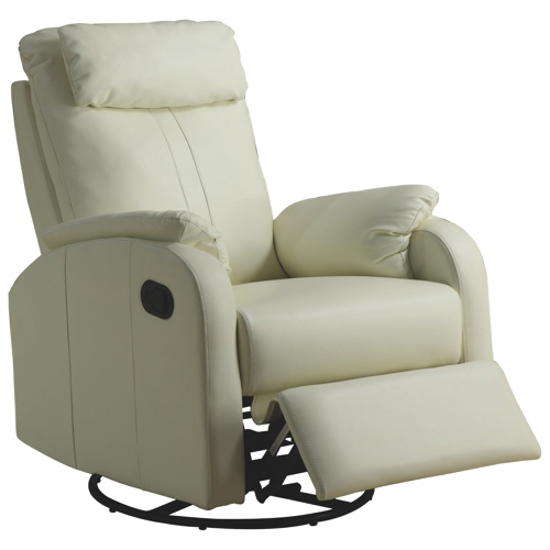 Contemporary Bonded Leather Recliner - Ivory  sc 1 st  Best Buy Canada : small recliners canada - islam-shia.org