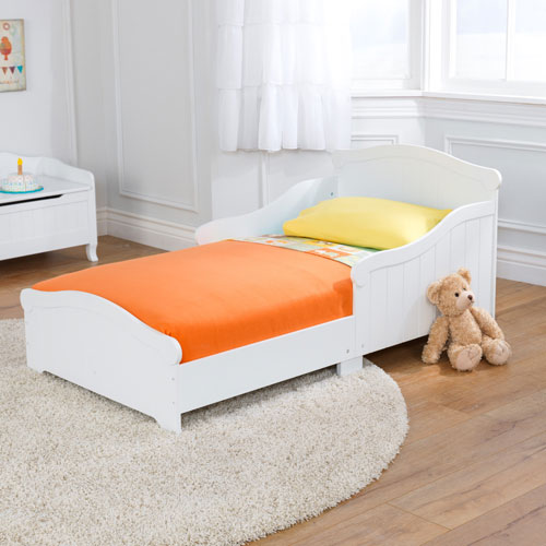 Kidkraft Nantucket Traditional Toddler Bed - White : Toddler Beds ...
