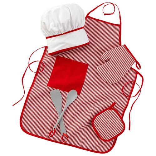 ensemble d'accessoires de cuisinier Tasty Treats de KidKraft en rouge