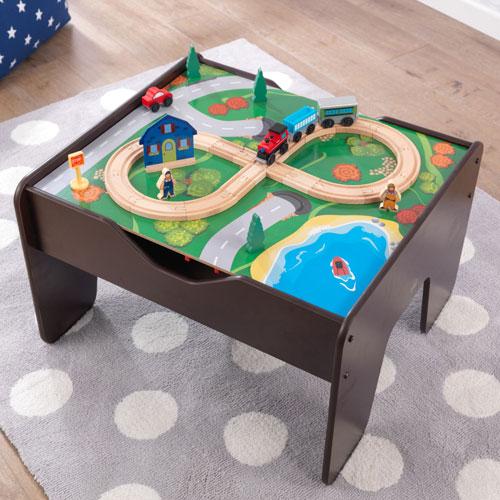 kidkraft 2 in 1 activity table espresso playsets. Black Bedroom Furniture Sets. Home Design Ideas