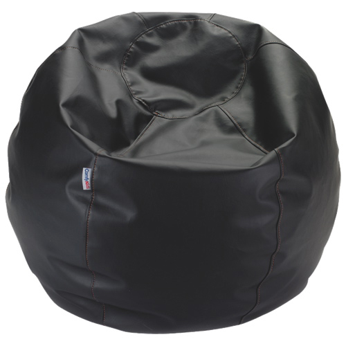 Comfy Kids - Vinyl Teen Bean Bag - Black