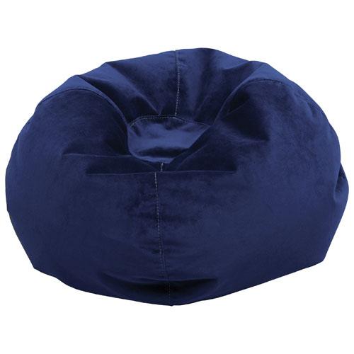 Fauteuil poire de Comfy Kids pour enfants - Bleu royal