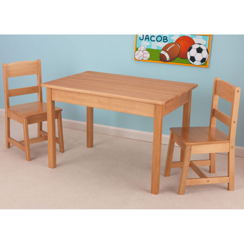 KidKraft Rectangle Table & 2-Chair Set - Natural : Kids Tables ...