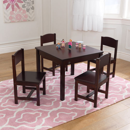 Kids Table And Chairs Set Espresso: KidKraft Farmhouse Table & 4-Chair Set