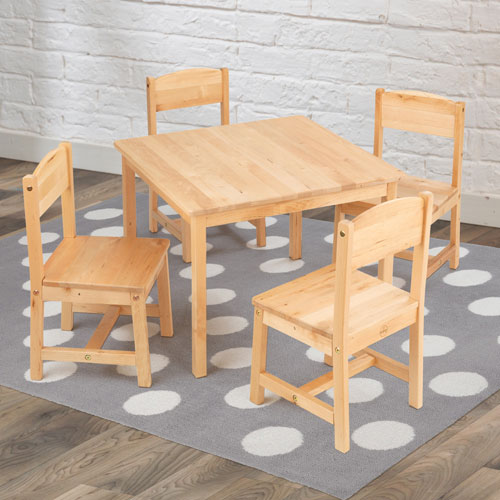 KidKraft Farmhouse Table U0026 4 Chair Set   Natural   Online Only