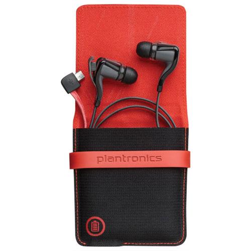 Écouteurs-boutons Bluetooth BackBeat GO 2 de Plantronics avec étui de chargement - Noir