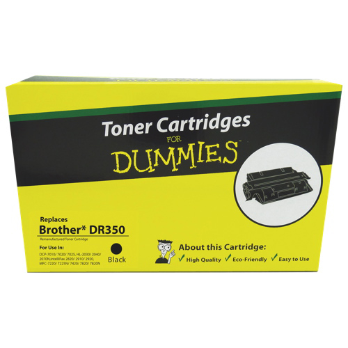 Toner Cartridges for Dummies Brother DR350 Black Toner (DBR-DR350)